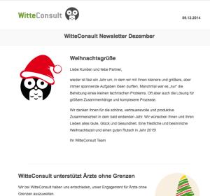 WitteConsult Newsletter Dezember