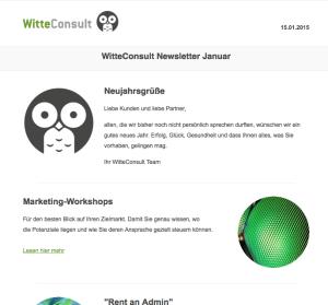 WitteConsult Newsletter Januar
