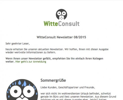 WitteConsult_Newsletter_August_2015